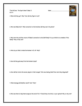 """""""The 39 Clues: The Viper's Nest"""" (Book 7), by P. Lerangis, Questions"""