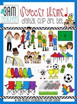 The 3AM Teacher: Soccer Themed Graphics (96 Graphics!!)