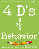 The 4 D's of Behavior Poster Pack