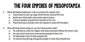 Ancient Mesopotamia: The 4 Empires BUNDLE (Includes 3 products!)