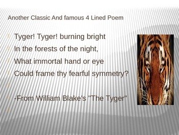 The 4 Lined poem