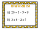 The 4 Operations (Order of Operations) Stations