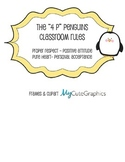 "The ""4 P"" Penguin Classroom Rules"