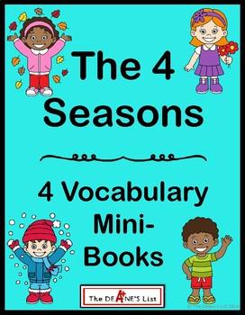 The 4 Seasons- 4 Vocabulary Mini-books