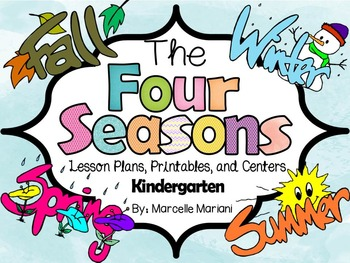 the 4 seasons activities pack four seasons lesson plans literacy