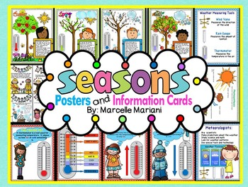 FOUR SEASONS Posters and Information Cards- 4 SEASONS THEME POSTERS