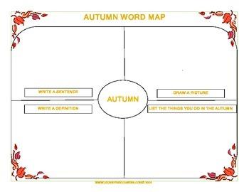 The 4 Seasons Word Maps