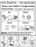 The 4 Seasons and 4 Food Groups Chart Graphing Activities *Answer Keys Included!