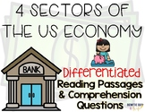 The 4 Sectors of the US Economy Differentiated Leveled Text Reading Passages