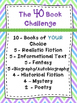 The 40 Book Challenge Inspired Activities