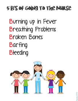 The 5 B's of Going to the Nurse