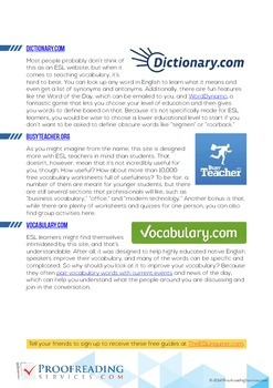 The 5 Best Free ESL Vocabulary Resources You Can Find Online