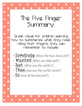 The 5 Finger Summary