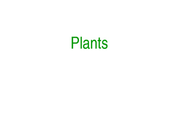 The 5 Kindoms: Plants