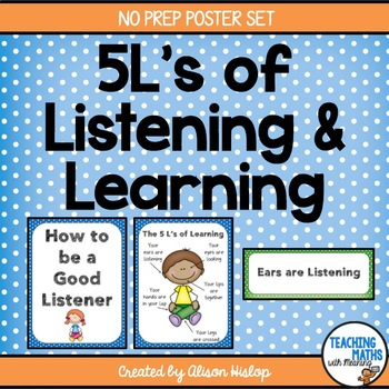 The 5 L's of Learning and Listening Posters