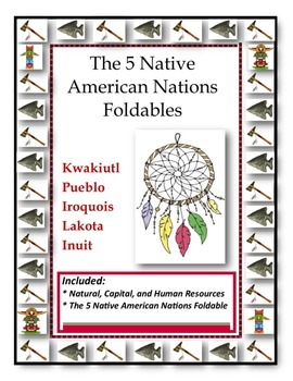 The 5 Native American Nations Foldables
