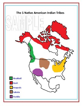 The 5 Native American Nations Task Card Set, Study Guide, and Assessment