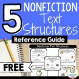 FREEBIE: The 5 Nonfiction Text Structures - A Student Guide
