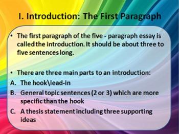 The 5 Paragraph Essay PowerPoint & Handouts