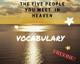 The 5 People you Meet in Heaven- Vocabulary List (Student Copy)