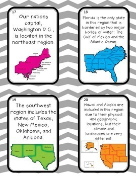 The 5 Regions of the United States- Scavenger hunt