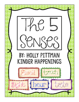 The 5 Senses- Anchor Charts and Activities