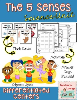 The 5 Senses Differentiated Center Activities