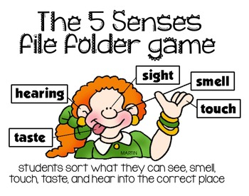 The 5 Senses File Folder Game [Sight, Touch, Taste, Smell, and Sound]
