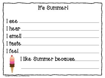 The 5 Senses and 4 Seasons, Preschool Music