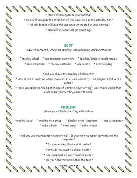The 5 Steps of Writing and The 6 Traits of Writing Posters