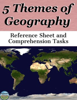 The 5 Themes of Geography Graphic Organizer and Activity
