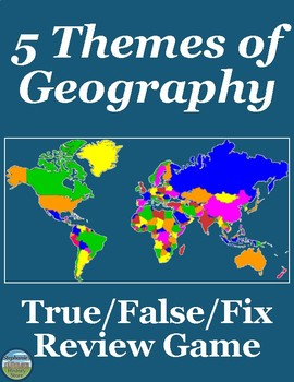 The 5 Themes of Geography Review Game