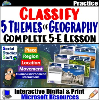 The 5 Themes of Geography Walkabout Activity and 5-E Lesson