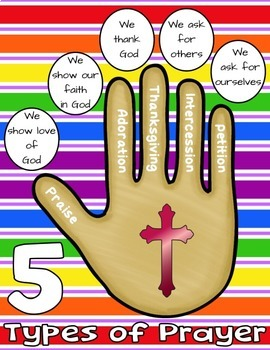 The 5 Types of Prayer Worksheet & Activity Pack