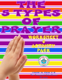 The 5 Types of Prayer Worksheet & Activity Pack