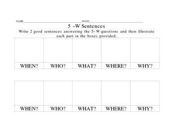 The 5-W Sentences