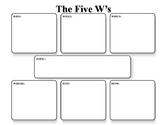 The 5 W's Graphic Organizer