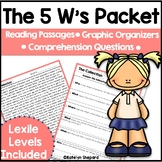 The 5 W's Packet 2nd Edition Reading Passages & Comprehens