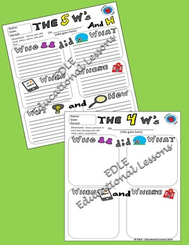 The 5 W's and H - Who, What, When, Where, Why and How