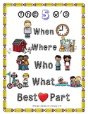 The 5 W's of Writing Anchor Chart