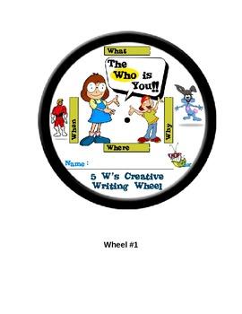 The 5 W's Creative Writing Wheel - Bring Fun to Writing!!
