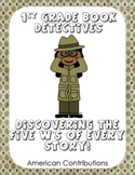 The 5 W's Graphic Organizer-Detective Themed-First Grade Common Core Unit 5