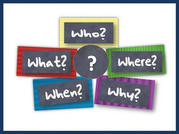 The 5 W's:  Who, What, When, Where & Why