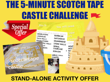 The 5 minute scotch tape castle challenge