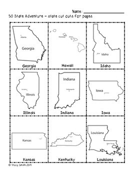 50 States - The 50 State Adventure!  Learn about all the states!