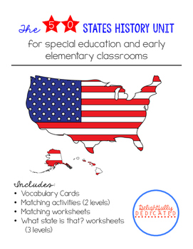 The 50 States History Unit for Special Ed