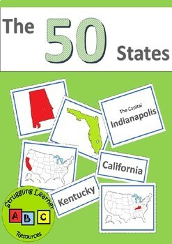 The 50 States - Matching Cards