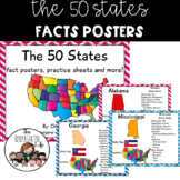 The 50 States facts posters worksheets journal