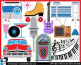 The 50's - Digital Clip Art Graphics - 131 images cod73