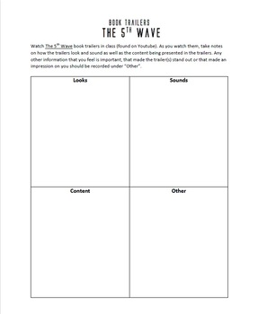 The 5th Wave Book Trailers viewing assignment